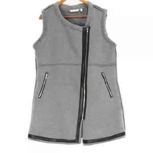 Soft Surroundings Gray Sherpa Vest Size XS